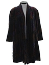 Womens Totally 80s Velvet Duster Coat Jacket