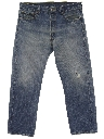 Mens Grunge Faded Levis 501 Tapered Denim Jeans Pants