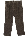 Mens Corduroy Pleated Pants