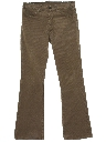 Mens Flared Corduroy Jeans Cut Pants