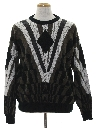 Mens Totally 80s Leather Cosby Style Sweater
