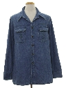 Mens Denim Leisure Shirt Jacket