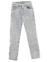 Mens Totally 80s Acid Washed Denim Jeans Pants