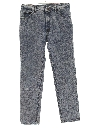 Mens Totally 80s Acid Washed Denim Jeans Pants