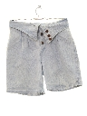 Womens Totally 80s High Waisted Acid Wash Denim Shorts