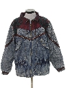 Womens Totally 80s Style Acid Washed Denim Jacket