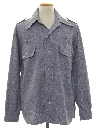 Mens Chambray Leisure Shirt Jacket