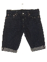 Mens Rolled Leg Redline Denim Jeans Shorts