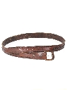 Mens Accessories - Tooled Leather Hippie Style Belt