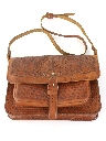 Womens Accessories - Tooled Leather Hippie Purse