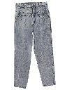 Womens Totally 80s Tapered Acid Washed Denim Jeans Pants