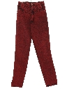 Womens Totally 80s High Waisted Over Dyed Straight Leg Denim Jeans Pants