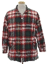 Mens Wicked 90s Flannel Car Coat Jacket