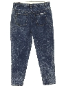 Womens Totally 80s High Waisted Tapered Acid Washed Denim Jeans Pants