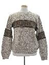 Mens Vintage Snowflake Sweater