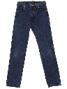 Unisex High Waist Tapered Leg Jeans-cut Pants