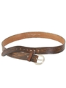 Mens Accessories - Tooled Leather Hippie Belt