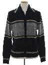Mens Mod Zip Front Sweater