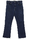 Mens Slight Bootcut Flared Denim Jeans Pants