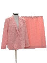 Womens Totally 80s 2 Piece Matching Skirt Suit