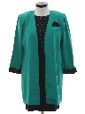 Womens Totally 80s 2 Piece Secretary mini Dress And Blazer Sport Coat Jacket