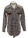 Mens Wool Plaid Western Style Shirt
