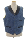 Mens Totally 80s Denim Western Vest