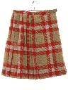 Womens Mod Plaid Kilt Skirt
