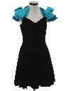 Womens Totally 80s Style Mini Prom Or Cocktail Dress