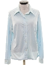 Womens Solid Disco Style Shirt