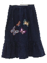 Womens Denim Hippie Skirt