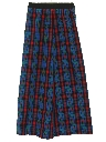 Womens Plaid Maxi Skirt