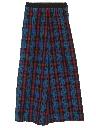 Womens Plaid Maxi Skirt