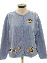 Womens Cheesy Cat Sweater