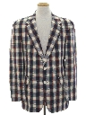 Mens Plaid Preppy Blazer Sport Coat Jacket