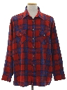Mens Grunge Flannel Shirt