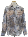 Mens Print Disco Style Club or Rave Shirt