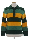 Mens Mod Knit Sweater Shirt