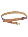 Womens Accessories - Leather Beaded Belt