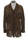 Womens Fringed Hippie Western Suede Leather Jacket