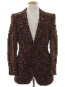 Mens Mod Plaid Disco Blazer Sport Coat Jacket