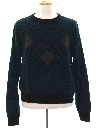 Mens Totally 80s Leather Trimmed Sweater