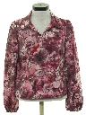 Womens Pullover Print Disco Style Shirt