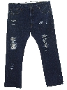 Mens Grunge Denim Jeans Pants