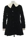 Womens Mod Velvet Twiggy Style Jacket