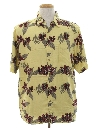 Mens Rayon Hawaiian Style Sport Shirt