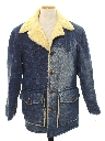 Mens Hippie Denim Car Coat Length Jacket