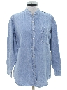 Womens Totally 80s Oversized Chambray Shirt