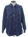 Womens Totally 80s Oversized Denim Shirt