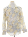 Mens Mod Print Disco Style Cotton Blend Shirt